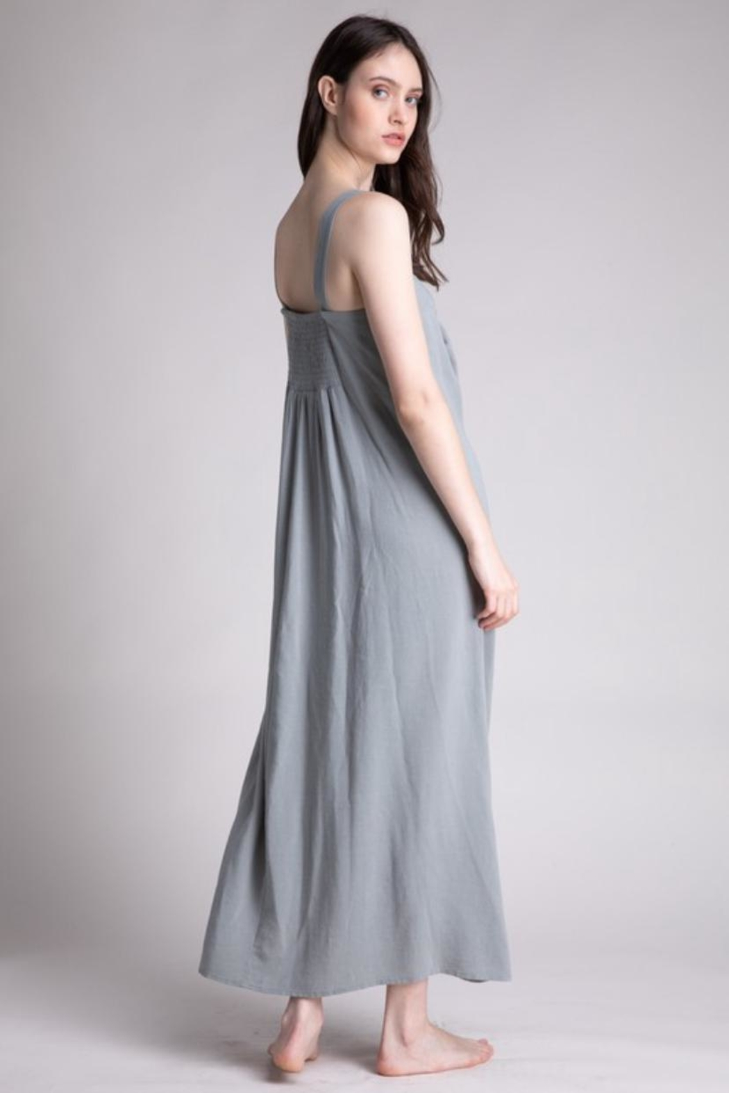 Grade & Gather  Dried Thyme Dress - Side Cropped Image