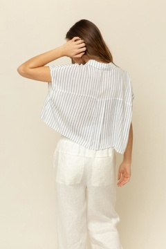Grade & Gather  Navy Stripe Top - Alternate List Image