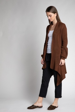 Grade and Gather Bronze Open Cardigan - Alternate List Image