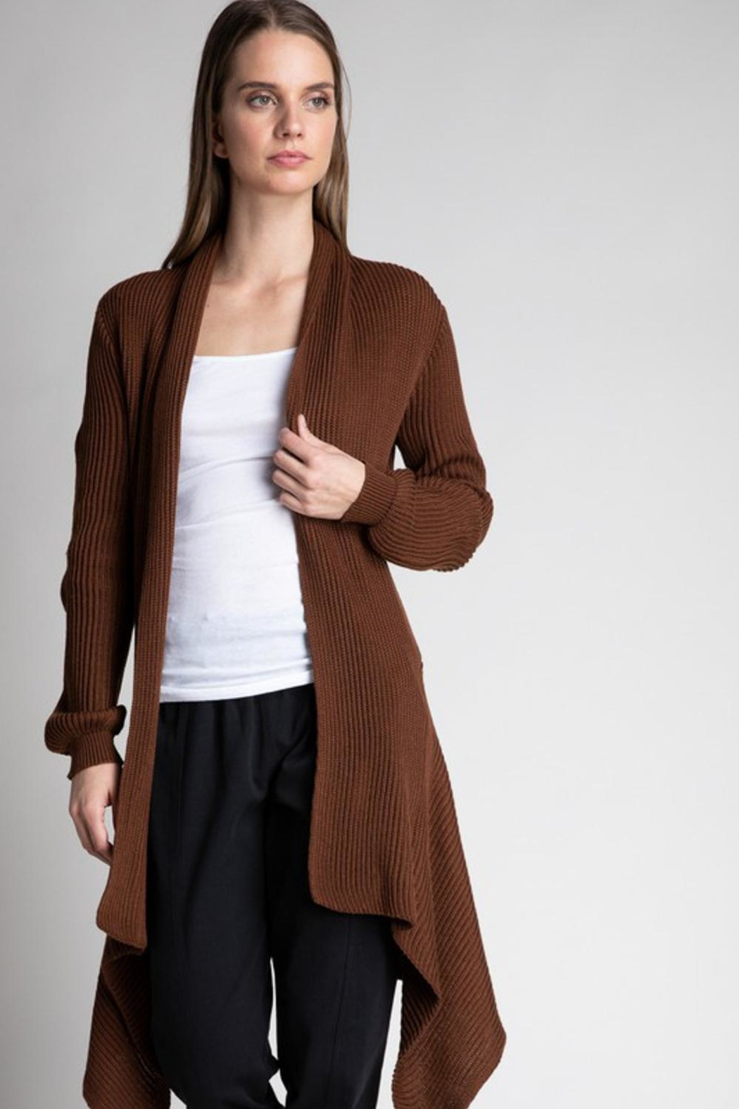 Grade and Gather Bronze Open Cardigan - Front Full Image