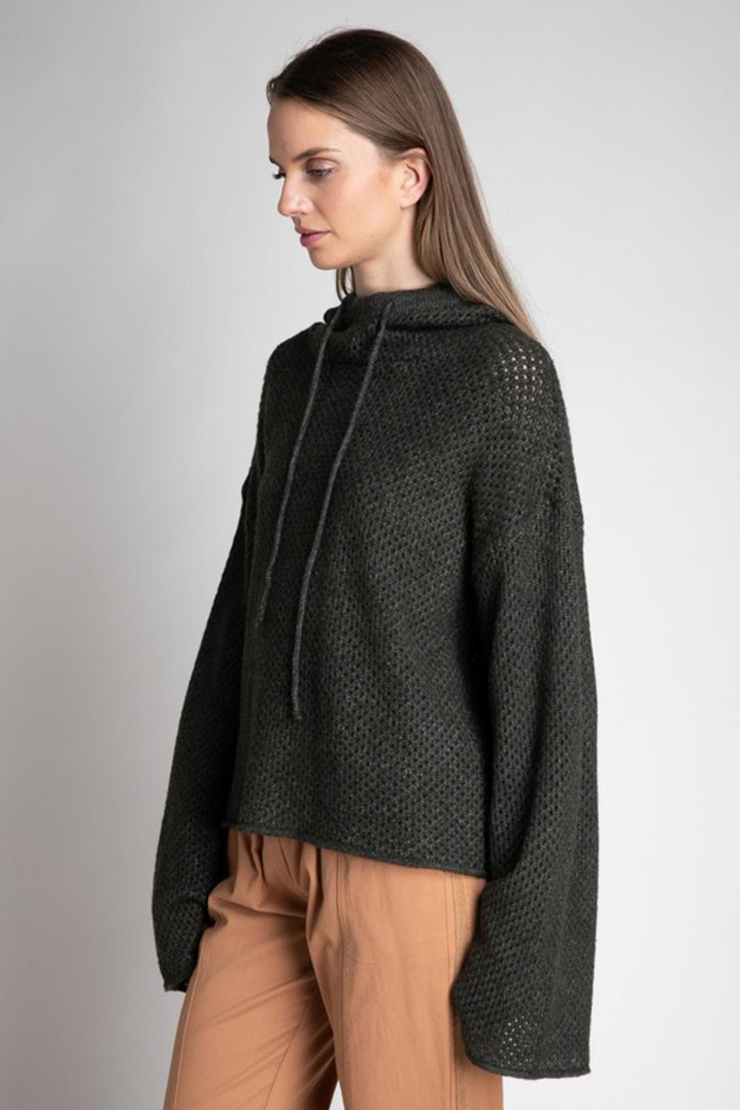 Grade and Gather Knit Olive Sweater - Main Image