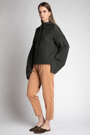 Grade and Gather Knit Olive Sweater - Side cropped