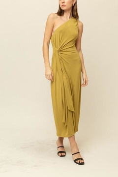 Grade and Gather One Shoulder Jersey Dress - Product List Image