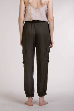 Grade and Gather Satin Jogger Pant - Alternate List Image
