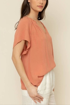 Grade and Gather Shirred Neck Blouse - Alternate List Image