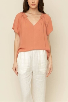 Grade and Gather Shirred Neck Blouse - Product List Image