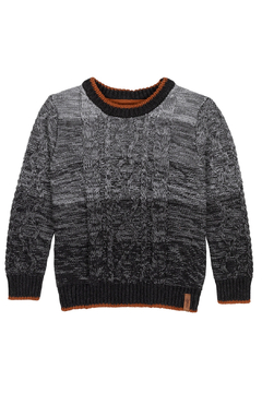 Deux Par Deux Gradient Cable Knit Sweater - Product List Image