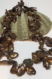 Vachon Designs Graduated Brown Metallic Fresh Water Corn-flake-Keishi Pearls - Product Mini Image