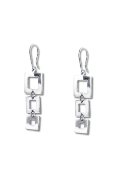Galerias 925 Graduated Squares Earrings - Product List Image