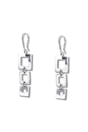 Galerias 925 Graduated Squares Earrings - Product Mini Image