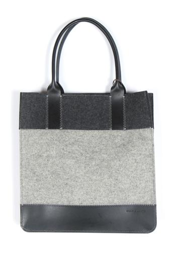 Shoptiques Product: Colorblock Felt Leather Tote - main