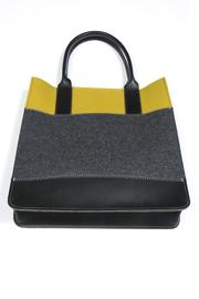 Shoptiques Product: Colorblock Felt Leather Tote - Front full body