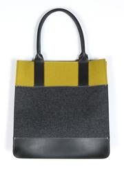 Shoptiques Product: Colorblock Felt Leather Tote