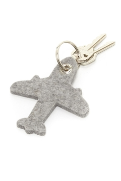 Shoptiques Product: Felt Airplane Key Ring