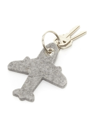 Graf & Lantz Felt Airplane Key Ring - Front cropped