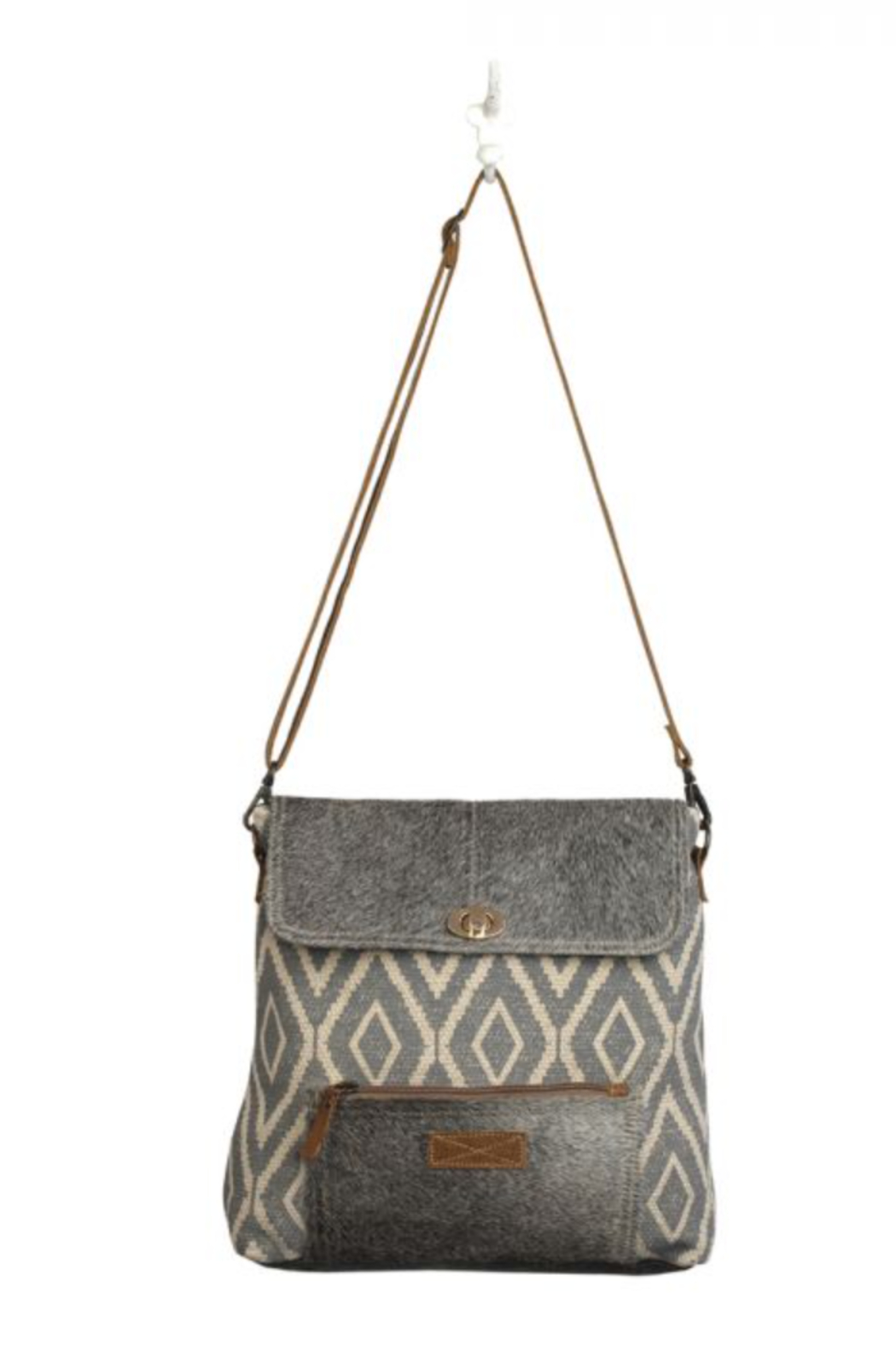 MarkWEST-Myra Bag Grainy Gray Shoulder Bag - Main Image