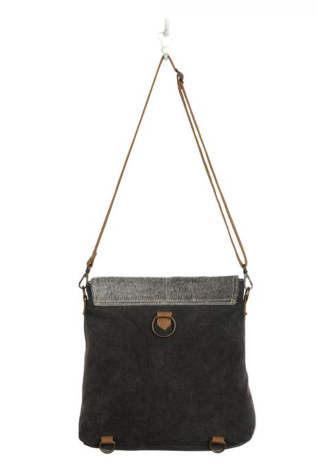 MarkWEST-Myra Bag Grainy Gray Shoulder Bag - Front Full Image