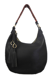 Sondra Roberts Grainy Nappa PU with Lacing Detail Hobo - Product Mini Image
