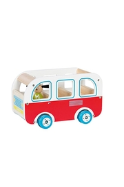 Moulin Roty Grande-Famille Wooden Bus - Front cropped