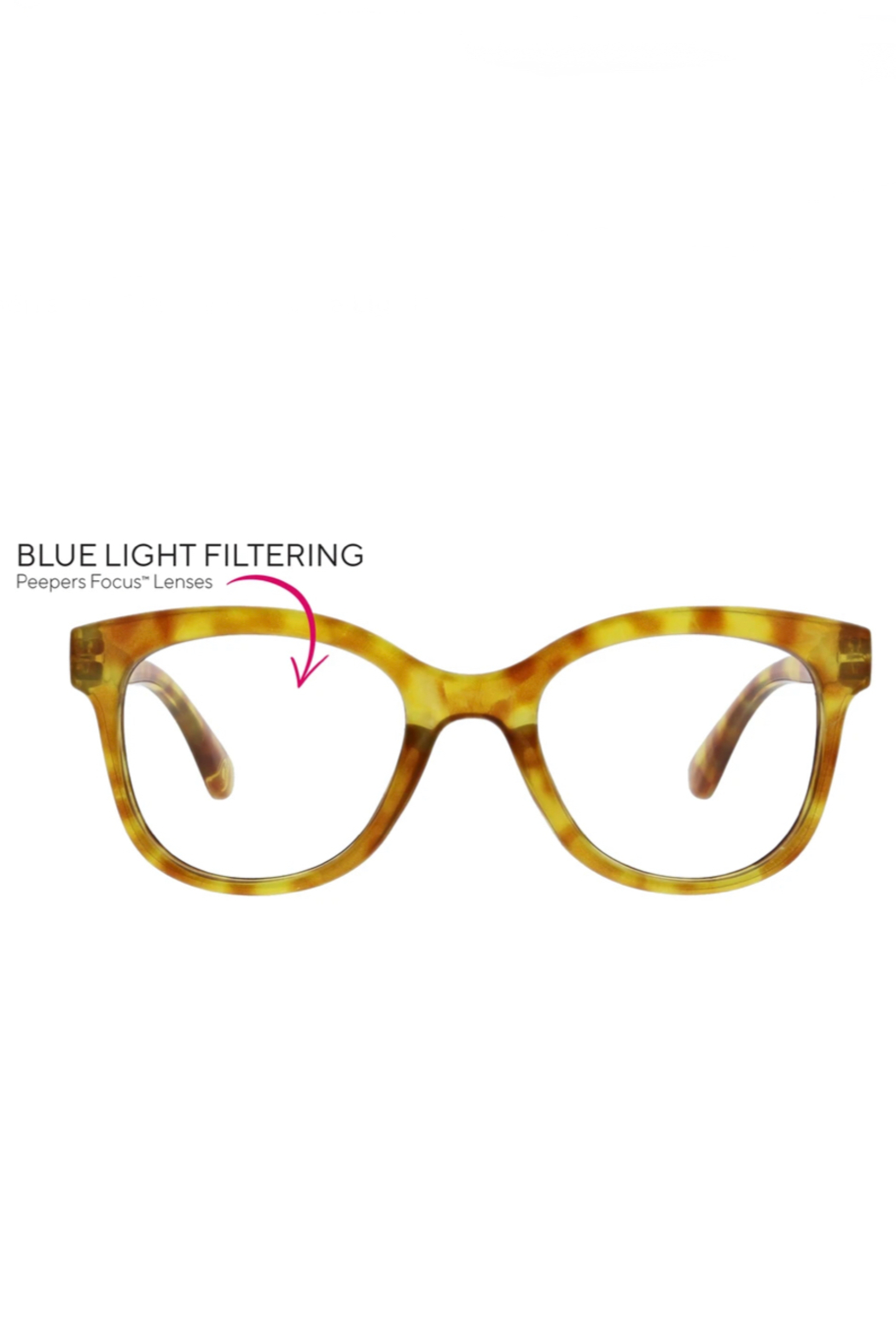 Peepers  Grandview Blue-Light Filtering Reading Glasses - Front Full Image