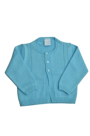 Image of Aquamarine Knitted Sweater Cardigan