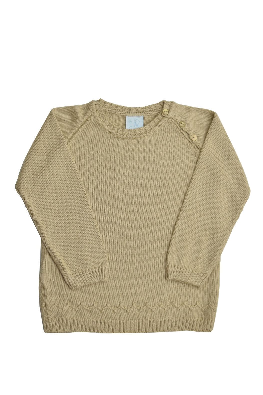 Granlei 1980 Beige Knit Sweater - Front Cropped Image