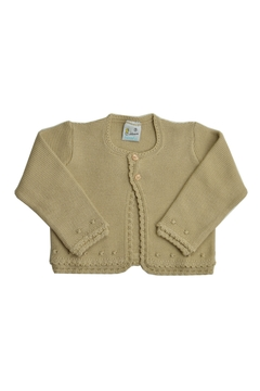 Shoptiques Product: Beige Knitted Sweater Cardigan