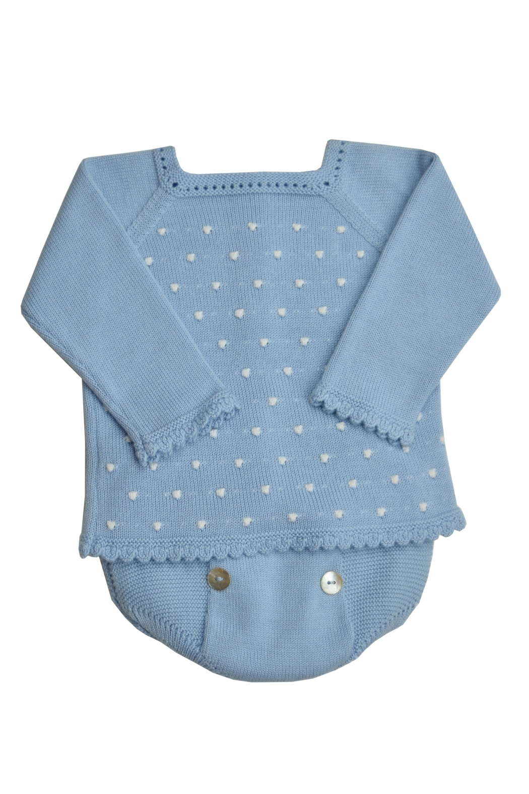 Granlei 1980 Blue Knit Set - Front Cropped Image