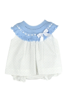 Shoptiques Product: Blue Polkadots Knitted Dress