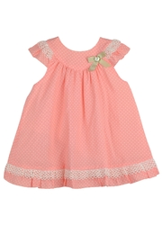 Granlei 1980 Coral Polkadots Dress - Front cropped