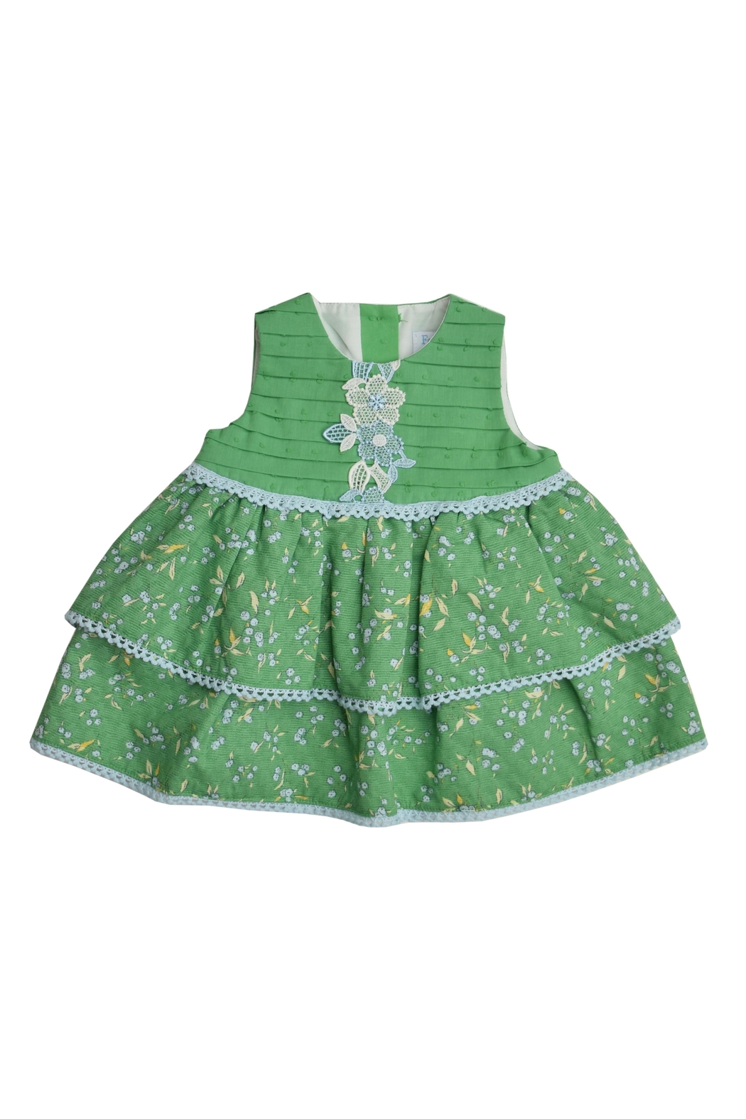 Granlei 1980 Green Dress Set - Front Full Image