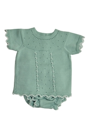 Granlei 1980 Green Knitted Outfit - Front cropped