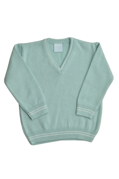 Shoptiques Product: Green V Neck Sweater