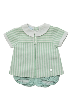 Shoptiques Product: Green White Stripes