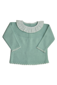 Shoptiques Product: Green & White Sweater