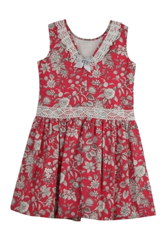 Granlei 1980 Red Floral Dress - Alternate List Image