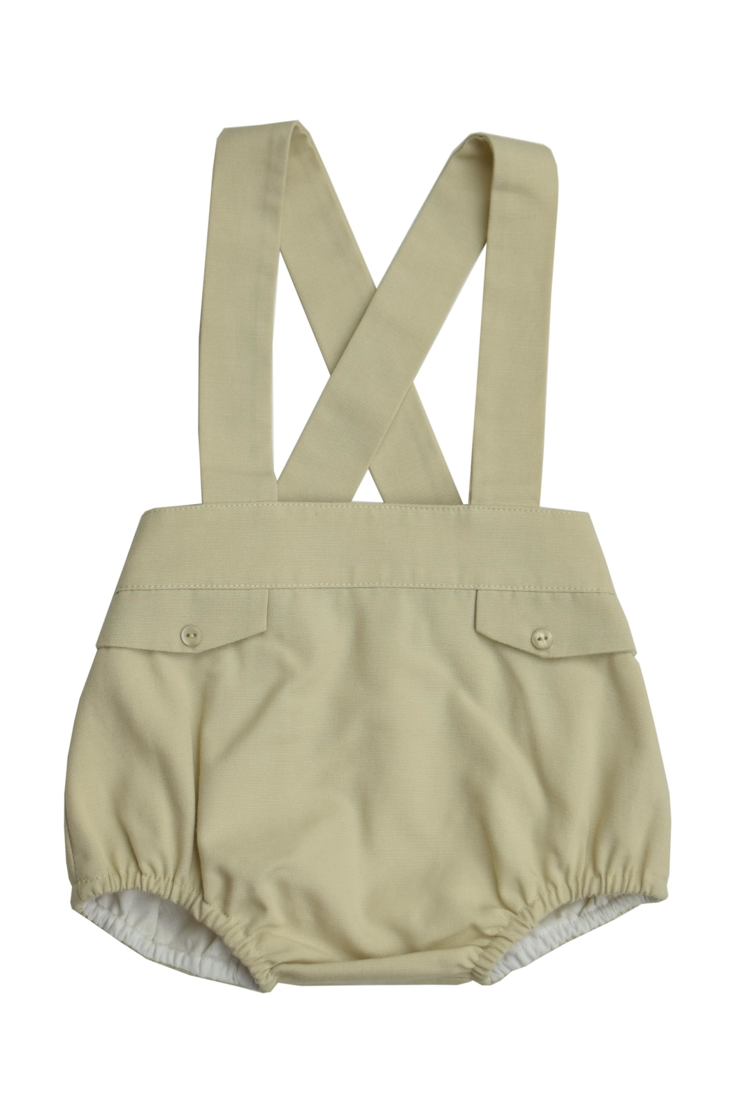 Granlei 1980 Red & Khaki Romper - Back Cropped Image