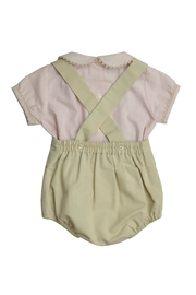 Granlei 1980 Red & Khaki Romper - Front full body