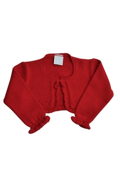 Granlei 1980 Red Knitted Bolero - Alternate List Image