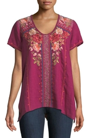 Johnny Was Grape Libbie Top - Product Mini Image