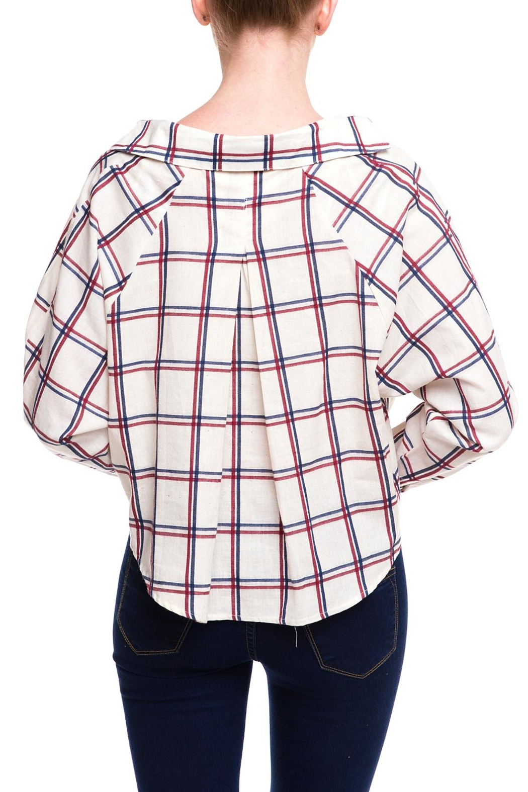 HYFVE Graph Tied Blouse - Side Cropped Image