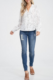 crescent Graphic Floral Top - Product Mini Image