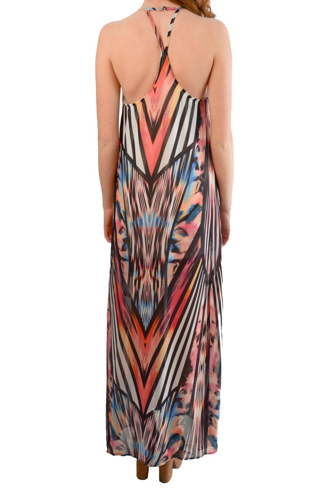 Alana Ferr Atelier Graphic Maxi Dress - Front Full Image