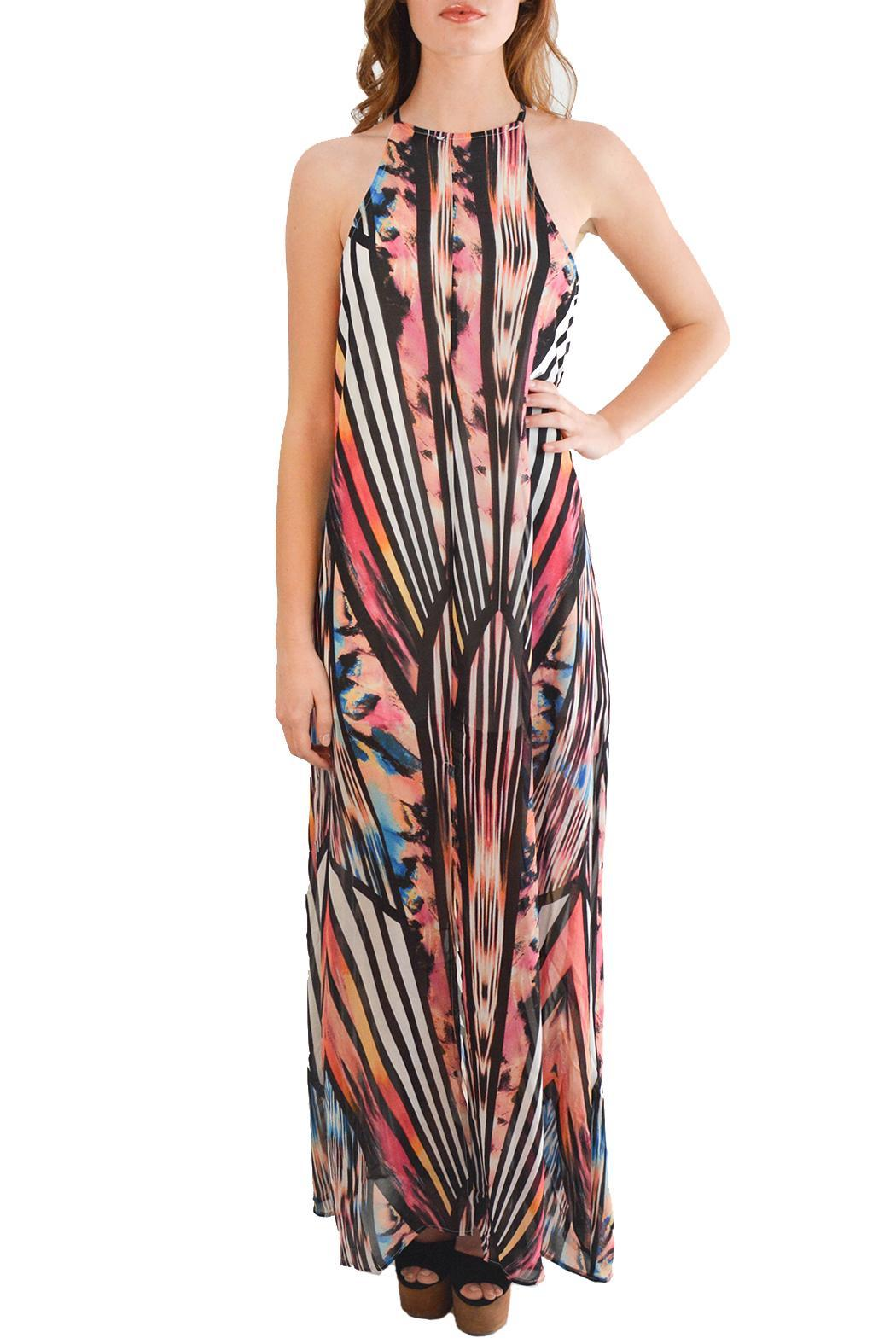 Alana Ferr Atelier Graphic Maxi Dress - Main Image
