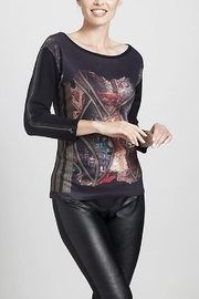 Angel Apparel Graphic Print Sweater Top - Product Mini Image