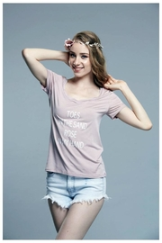 Ete Apparels Graphic V-Neck Tee - Product Mini Image