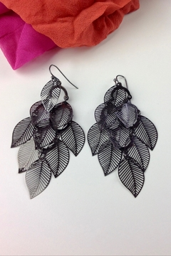 GHome2 Graphite Leaf Earrings - Product List Image