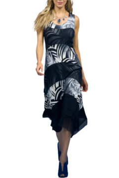 Picadilly Graphite Print Dress - Alternate List Image