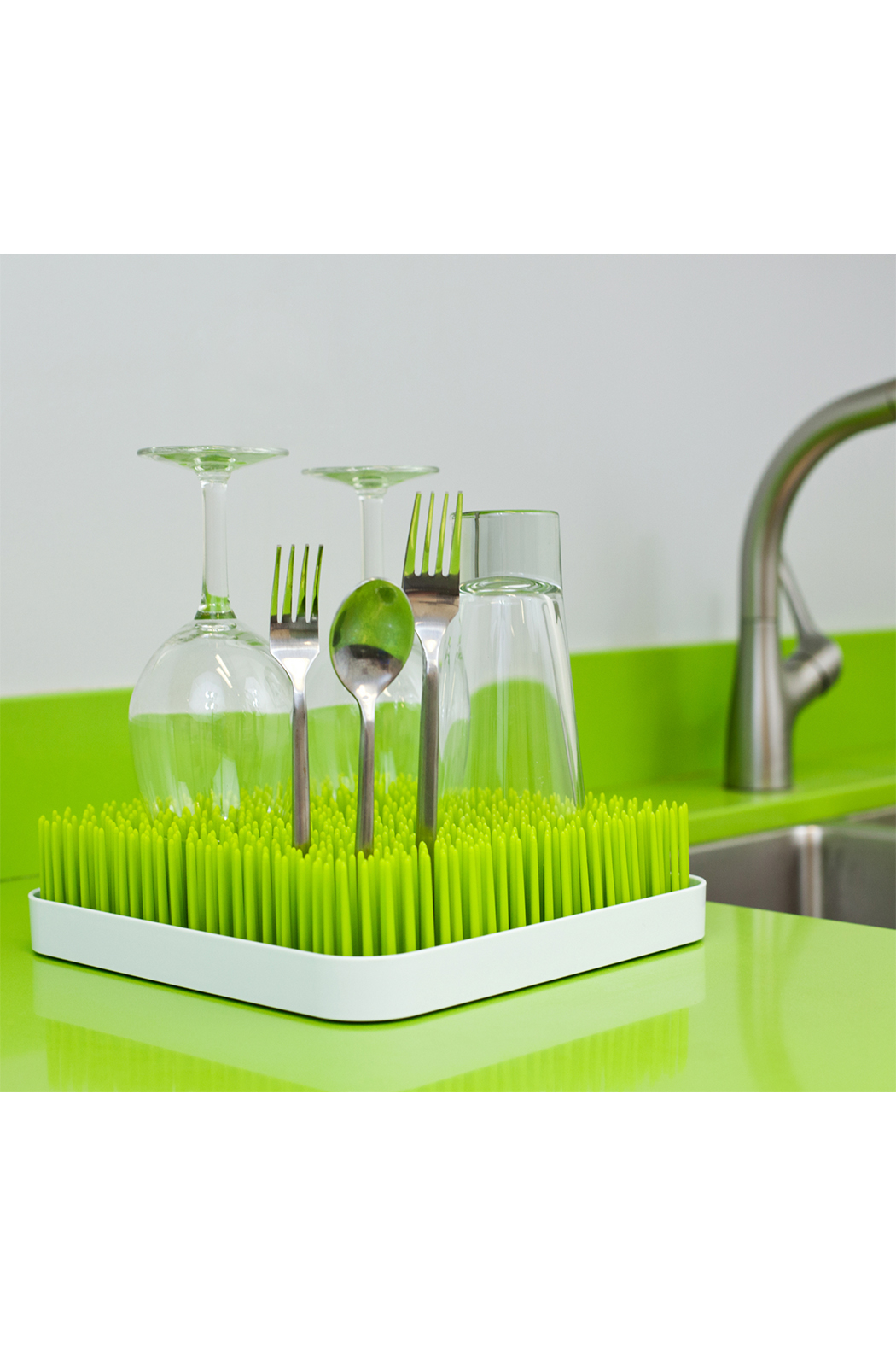 boon by Tomy Grass Countertop Drying Rack - Back Cropped Image
