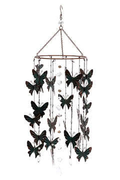 Grasslands Round Butterfly Chimes - Product List Image